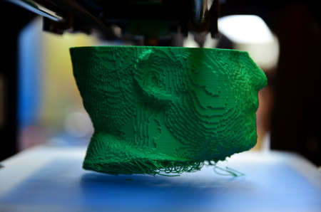 held: Umag, Croatia. 8th April, 2014. At the conference, Microsoft WinDays which held in Umag, there was a presentation of 3D printer.
