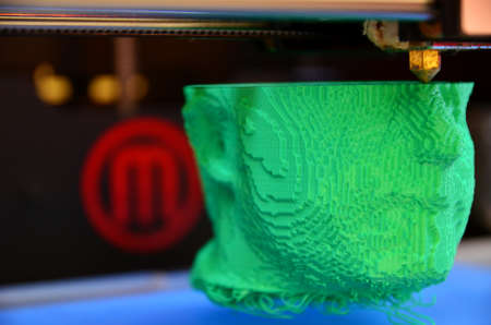 microsoft: Umag, Croatia. 8th April, 2014. At the conference, Microsoft WinDays which held in Umag, there was a presentation of 3D printer.