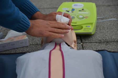 animate: Osijek, Croatia. 25th Oct, 2014. Animate me is a public health campaign to raise awareness of the importance of knowing CPR, Cardiopulmonary resuscitation.