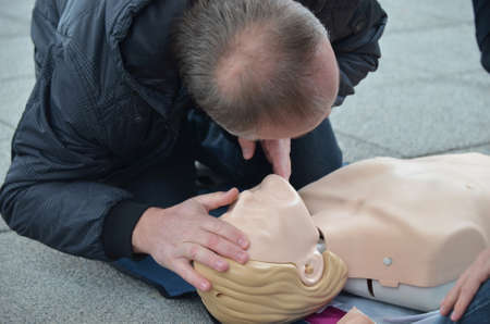 cardiopulmonary resuscitation: Osijek, Croatia. 25th Oct, 2014. Animate me is a public health campaign to raise awareness of the importance of knowing CPR, Cardiopulmonary resuscitation.