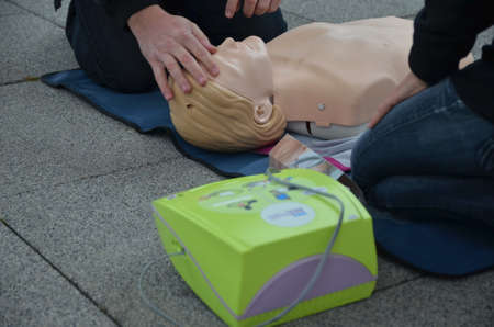 Osijek, Croatia. 25th Oct, 2014. Animate me is a public health campaign to raise awareness of the importance of knowing CPR, Cardiopulmonary resuscitation.