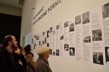 numerous: Zagreb,Croatia. 31st January 2014. Numerous visitors at the Museum of Contemporary Art during Museum Night which held in more than 100 Croatian cities and towns.