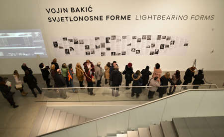 31st: Zagreb,Croatia. 31st January 2014. Numerous visitors at the Museum of Contemporary Art during Museum Night which held in more than 100 Croatian cities and towns.