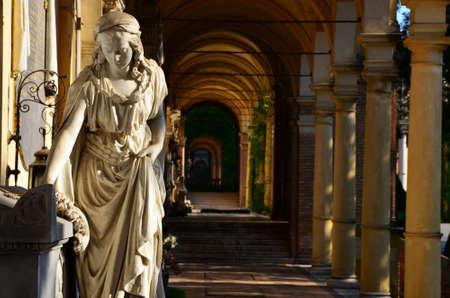 beatiful: Zagreb,Croatia. 20th July, 2014. Beatiful sunshihe morning in cemetary Mirogoj