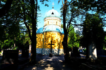 cemetary: Zagreb,Croatia. 20th July, 2014. Beatiful sunshihe morning in cemetary Mirogoj.