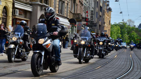 traditionally: Osijek, Croatia. 19th Apr, 2014. Traditionally Motorcycle Club Osijek organized action of giving children under the name Moto Bunny which was held at Ante Starcevic Square