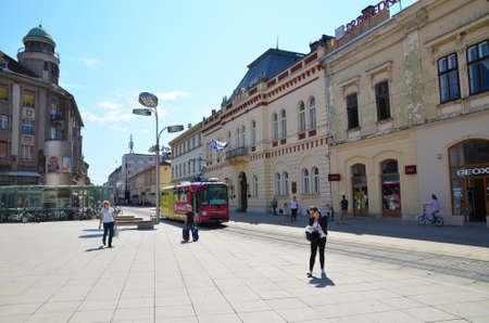 drava: Osijek,Croatia. Sunny morning in the city. Editorial