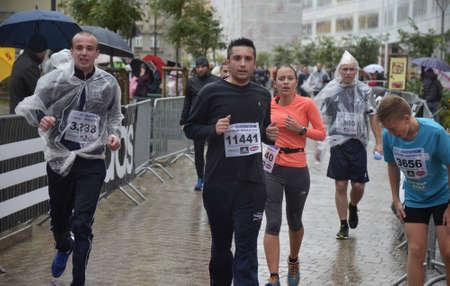 despite: Zagreb,Croatia. 11 Oct 2015. 24th Zagreb marathon despite the heavy rain attracted a large number of participants. Editorial