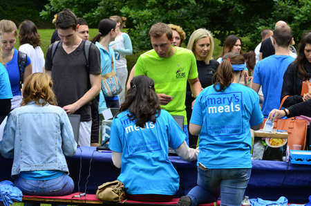 marys: Zagreb,Croatia. 31 May 2015. Humanitarian organization Marys Meals Croatia organized a charity race called Run for Child 31 which aims to raise awareness of Marys Meals.The race was held in Maksimir park.
