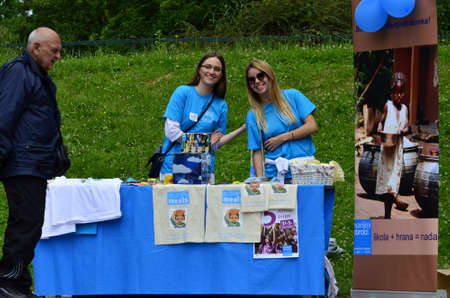 humanitarian: Zagreb,Croatia. 31 May 2015. Humanitarian organization Marys Meals Croatia organized a charity race called Run for Child 31 which aims to raise awareness of Marys Meals.The race was held in Maksimir park.