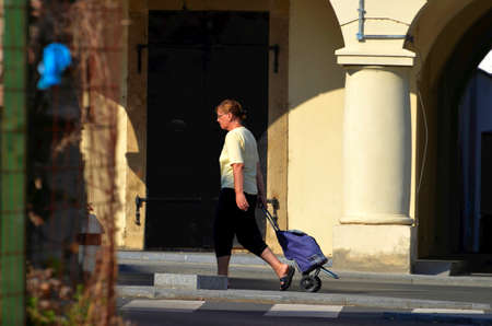 daily life: Vukovar, Croatia. 8th Aug, 2015. Daily life in the city. Editorial