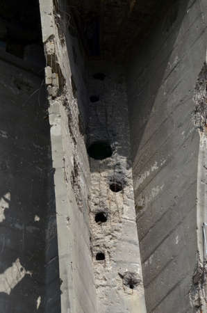 during: Vukovar,Croatia. 16 Aug 2014. Water tower damaged during the war. Editorial