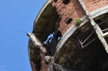 16: Vukovar,Croatia. 16 Aug 2014. Water tower damaged during the war. Editorial
