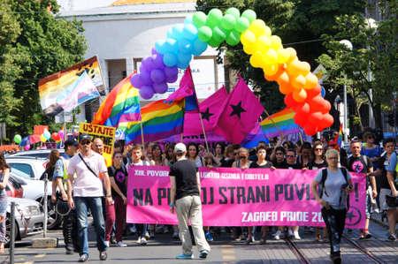 15th: Zagreb, Croatia. 15th June 2013. 12th Zagreb Pride parade. Editorial
