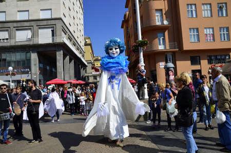 international puppet festival: Zagreb, Croatia. 12th Sep, 2015. 48th International Puppet Theatre Festival  PIF at Ban Josip Jelacic square Editorial