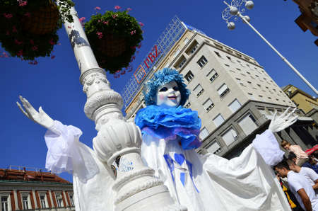 international puppet festival: Zagreb, Croatia. 12th Sep, 2015. 48th International Puppet Theatre Festival  PIF at Ban Josip Jelacic square. Editorial