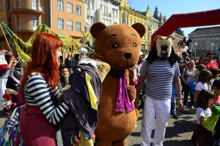 international puppet festival: Zagreb, Croatia. 12th Sep, 2015. 48th International Puppet Theatre Festival  PIF at Ban Josip Jelacic square. Editorial