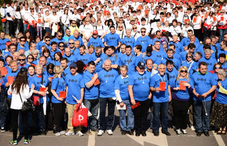 held: Zagreb,Croatia. 1st May of 2014. - Celebration of Labour Day was held in Zagreb entitled Together for 8 8 8