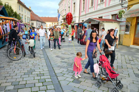 first day: Varazdin,Croatia. August 22 2014. The first day of 16th Spancirfest - Festival of good emotions which takes place in the period between 22. and 31. August