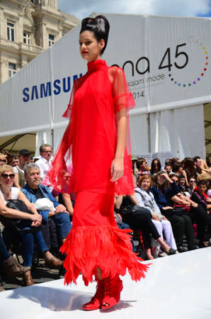 10th: Zagreb, Croatia. 10th May, 2014. Regional Fashion Fair ZONE 45 which brought together a large number of designer clothing, shoes, jewelry and leather goods.