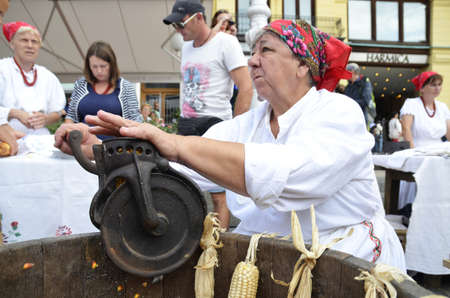 sep: Zagreb,Croatia. 19 Sep 2015.100 Zagorsko - Sale Event of products and traditional crafts of Krapina-Zagorje County at Ban Josip Jelacic square. Editorial