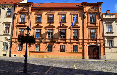 constitutional: Building of Constitutional Court in Zagreb,Croatia Editorial