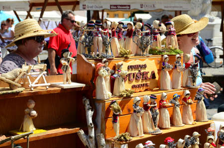 Osijek,Croatia. 05 July 2014. Antiques fair on the Holy Trinity Square in old town Citadel. Editorial