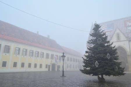 dec: Zagreb, Croatia. 22nd Dec, 2013. Cold and foggy morning in Zagreb, Croatia.