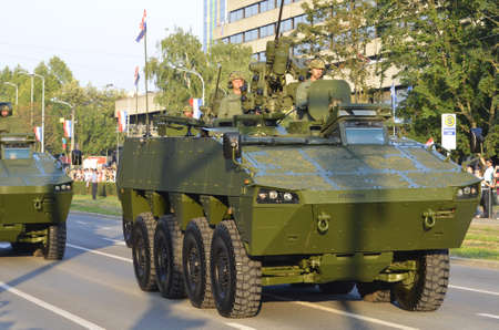 Zagreb,Croatia.  4th August, 2015. 20th anniversary of the Operation Storm with a huge military parade. Editorial