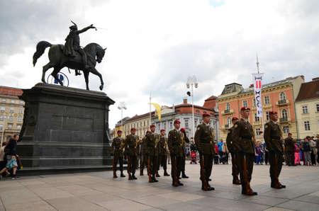 Zagreb,Croatia. 31 May 2014.Military Parade in city center