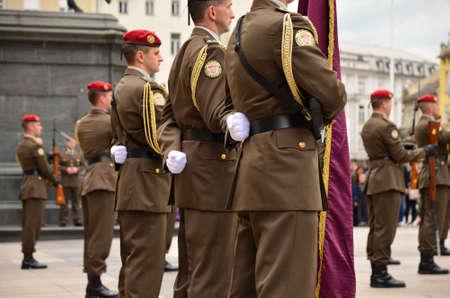 31: Zagreb,Croatia. 31 May 2014.Military Parade in city center