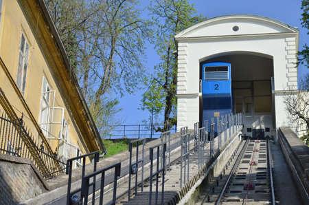 Funicular in Zagreb,Croatia Editorial