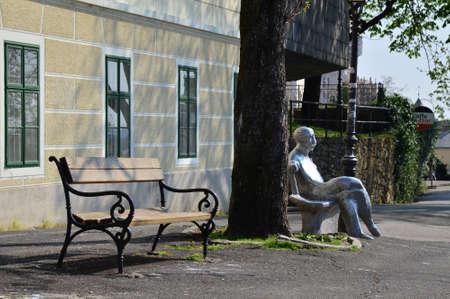 Statue on  Antun Gustav Matos in Zagreb,Croatia