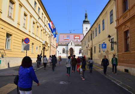 Saint Mark Church in Zagreb,Croatia Editorial