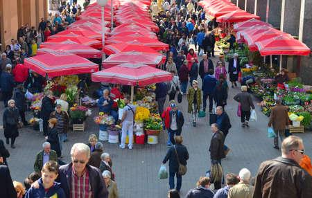 Way to the Dolac market in Zagreb,Croatia
