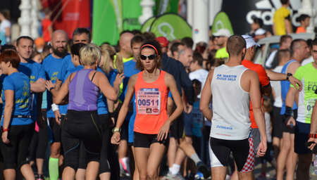 Zagreb, Croatia. 12th October, 2014. Zagreb Marathon gathered a large number of competitors