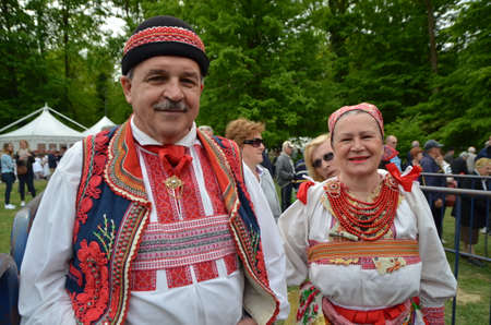 portions: Zagreb,Croatia. 01.May.2015. Citizens celebrate Labour Day in Park Maksimir. Zagreb city serving 60,000 portions of free bean soup.