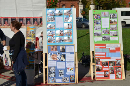 19 years: Zagreb,Croatia. 18th Oct, 2014. Occasion of the World Mission day in front of Zagreb Cathedral