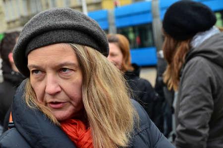 activist: Zagreb,Croatia. Vesna Terselic, peace activist