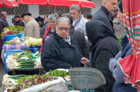 legendary: Zagreb,Croatia. 02 Apr 2016. Daily life at legendary Dolac market.