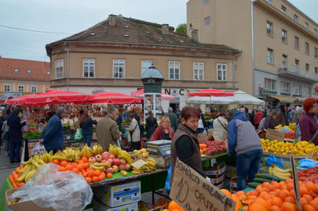 legendary: Zagreb,Croatia. 02 Apr 2016. Daily life at legendary Dolac market.