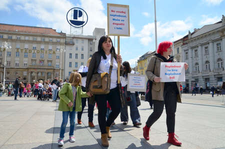 fifth: Zagreb,Croatia. 30th April, 2016. Association of Parents organized the fifth civil action Together for fertility The goal is to provide support to infertile couples and raise public awareness on the issue of infertility