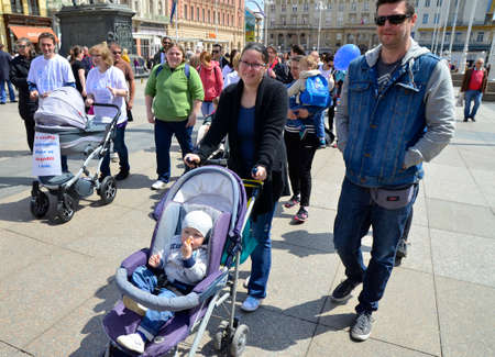 infertile: Zagreb,Croatia. 30th April, 2016. Association of Parents organized the fifth civil action Together for fertility The goal is to provide support to infertile couples and raise public awareness on the issue of infertility