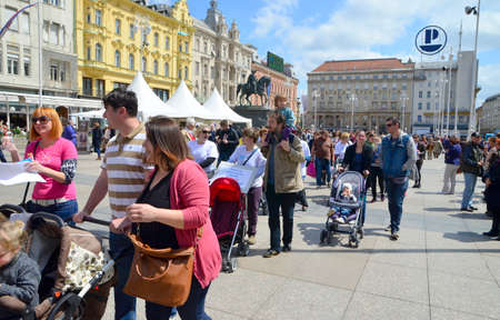 provide: Zagreb,Croatia. 30th April, 2016. Association of Parents organized the fifth civil action Together for fertility The goal is to provide support to infertile couples and raise public awareness on the issue of infertility