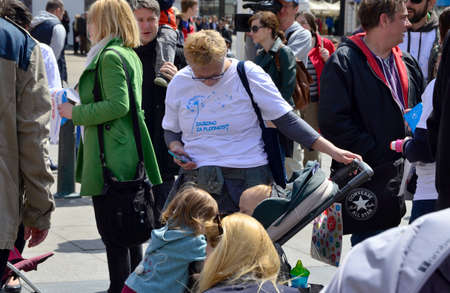 social actions: Zagreb,Croatia. 30th April, 2016. Association of Parents organized the fifth civil action Together for fertility The goal is to provide support to infertile couples and raise public awareness on the issue of infertility