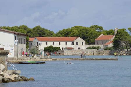Ugljan, Croatia. 17th Aug, 2015. Ugljan town on Ugljan island,Croatia Editorial