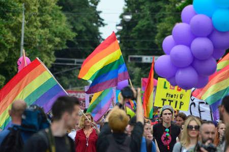 transsexual: Zagreb, Croatia. 11th June, 2016. 2016 XV.Zagreb Pride March for LGBTIQ people and families under the slogan Croatia Has Not Yet Fallen!