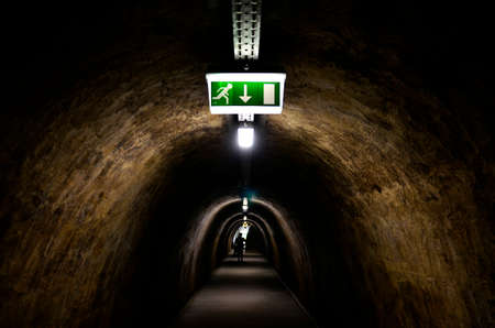 opens: Zagreb, Croatia. 9th July, 2016. The newly renovated tunnel Gric which existed since 1945th opens to the public a few days ago. 350 meters long and connect Mesnicka and Radiceva street in city center.
