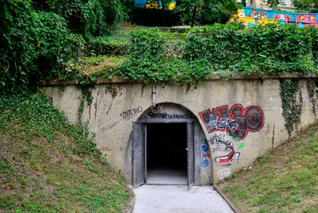 existed: Zagreb, Croatia. 9th July, 2016. The newly renovated tunnel Gric which existed since 1945th opens to the public a few days ago. 350 meters long and connect Mesnicka and Radiceva street in city center.
