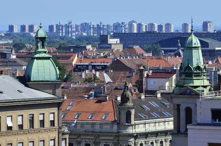 aerail: Zagreb,Croatia.10 Jul 2016.Panoramic view on city Editorial